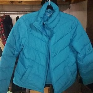 Lands End Down Jacket Size Small Teal